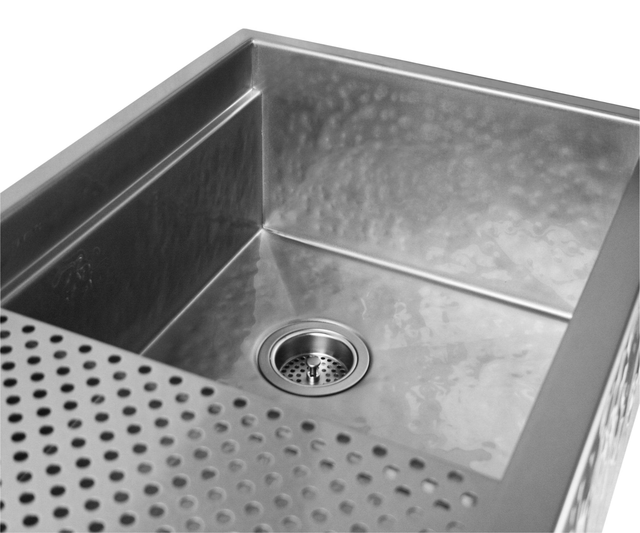 Legacy - Legacy Matte Hammered Stainless Steel Farmhouse Sink - Undermount