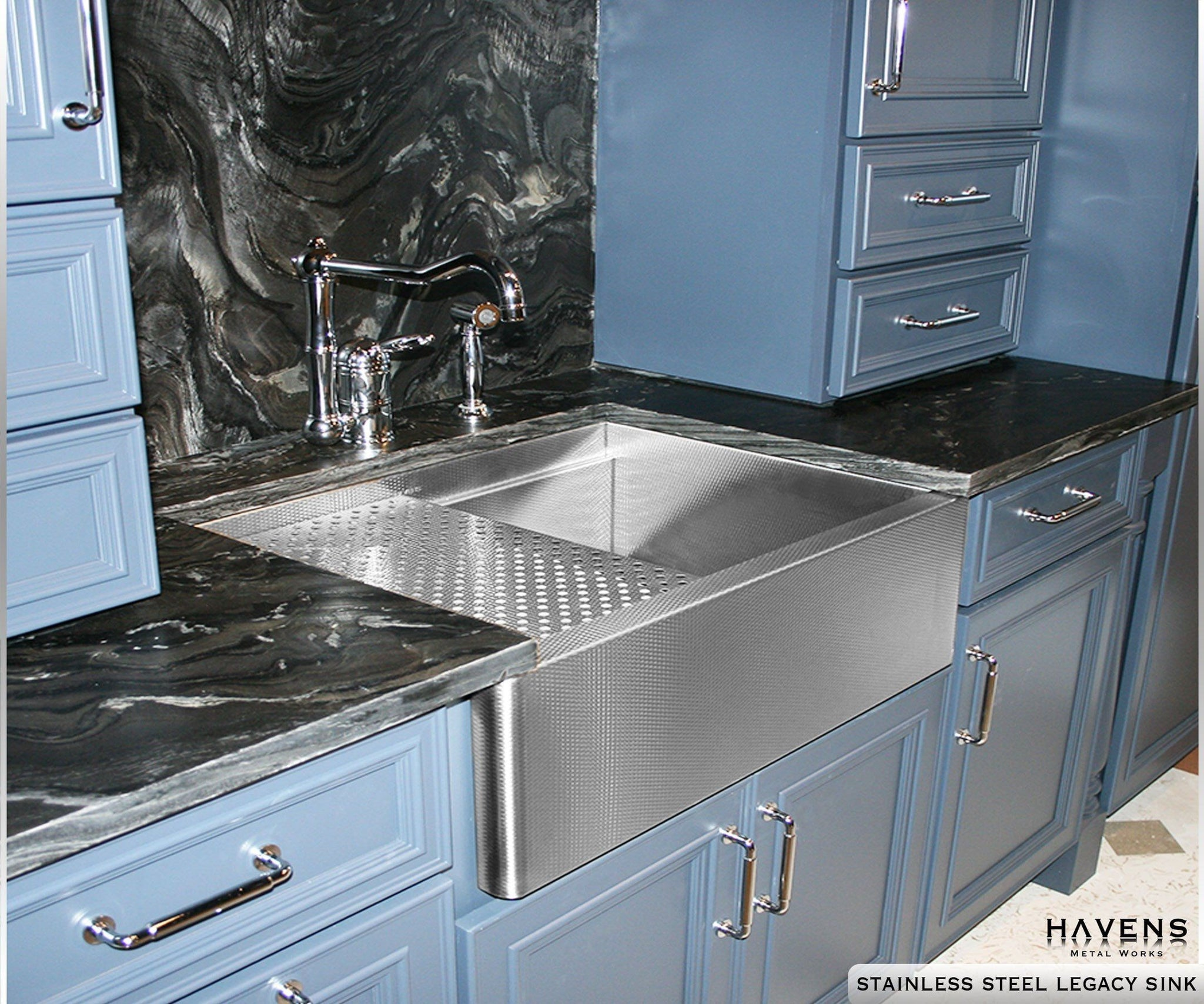Legacy stainless steel undermount sink prestige havens for Stainless steel countertop with built in sink