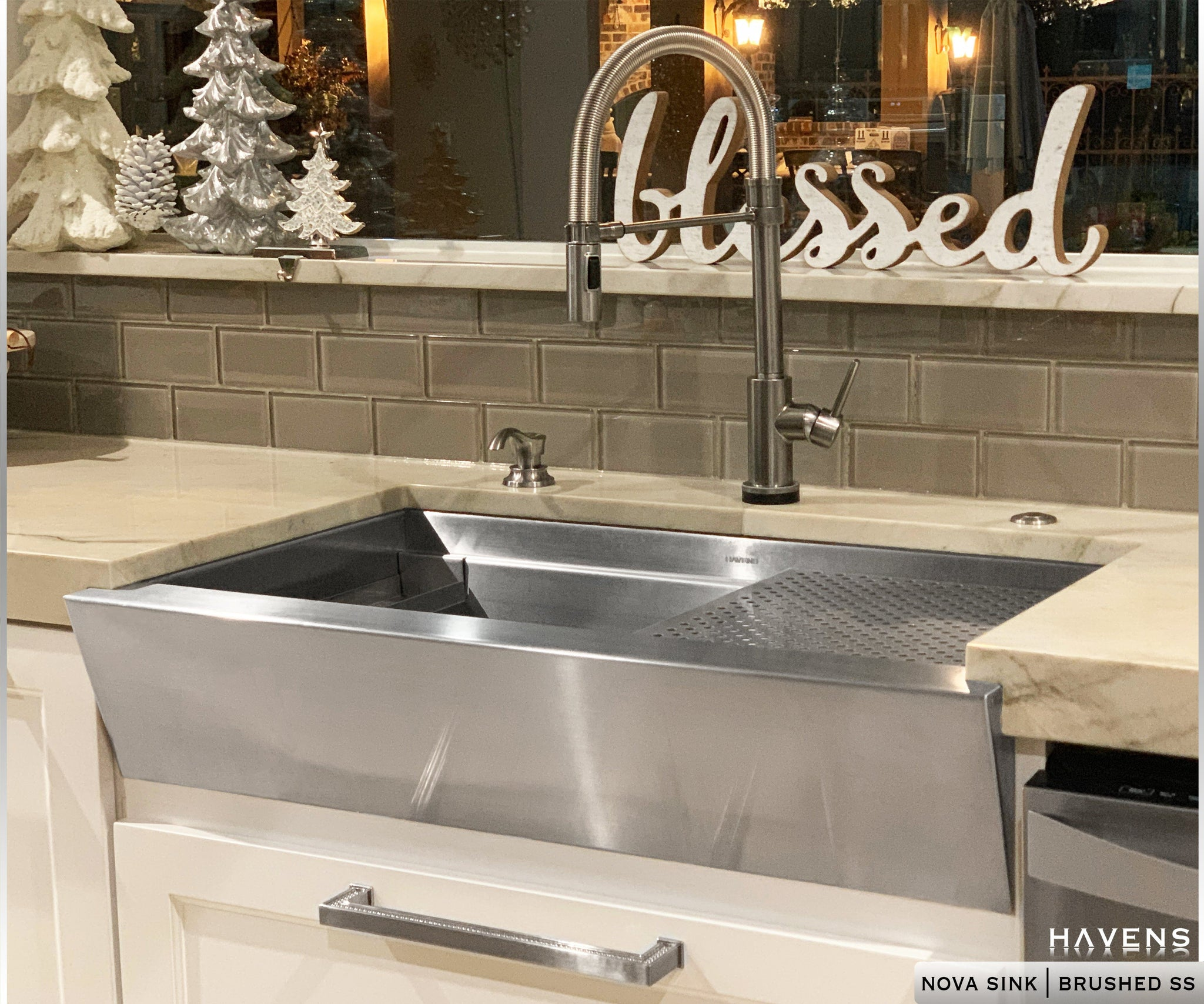 Nova Stainless Steel Farmhouse Sink Undermount Havens Luxury