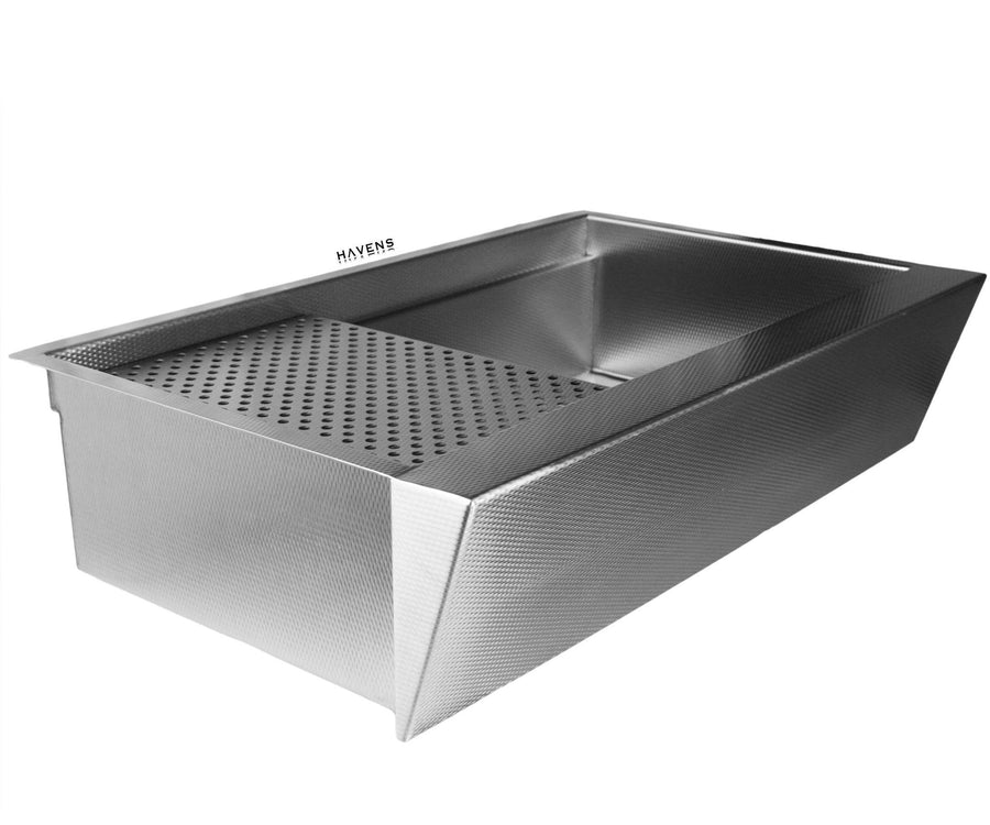 Nova Stainless Steel farmhouse sloped apron front sink