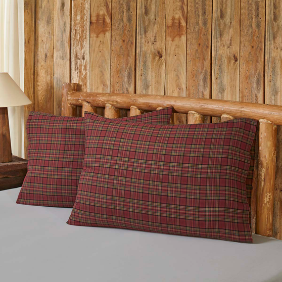 The Tartan Red Plaid Bedding Accessory Collection