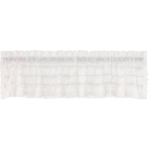 The White Ruffled Sheer Petticoat Curtain Collection