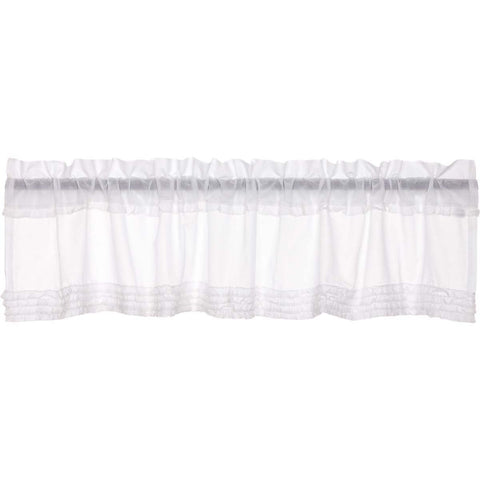 The White Ruffled Sheer Curtain Collection