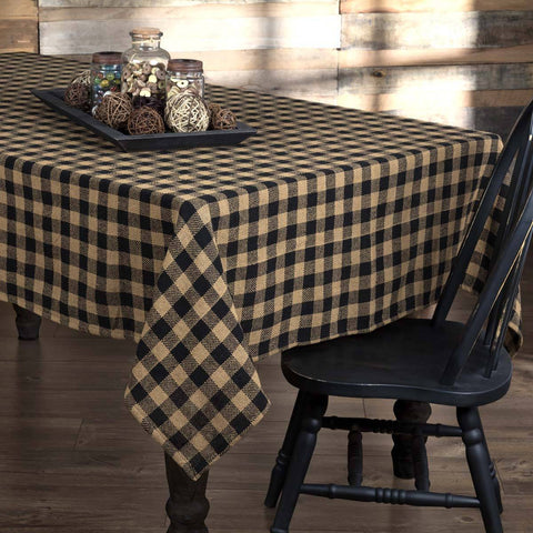 The Burlap Black Check Tabletop Collection