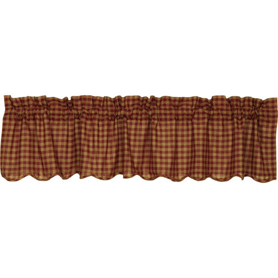 The Burgundy Check Curtain Collection