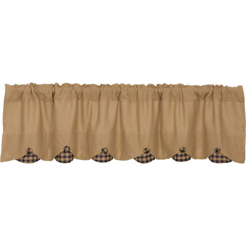 The Burlap Natural with Navy Check Curtain Collection