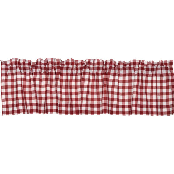 The Buffalo Red Check Curtain Collection
