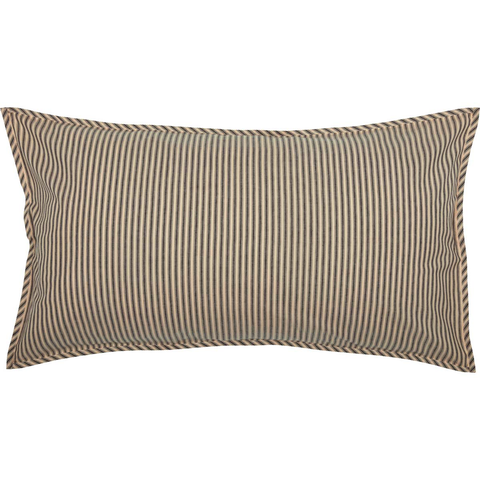 Sawyer Mill Charcoal Ticking Stripe King Sham