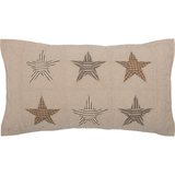 Sawyer Mill Star Charcoal King Sham