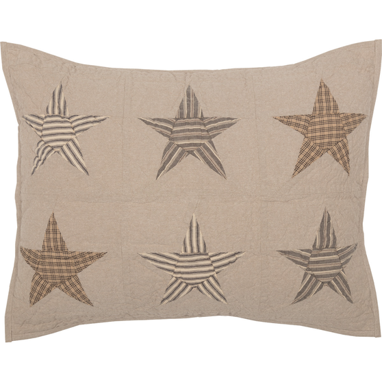 Sawyer Mill Star Charcoal Standard Sham