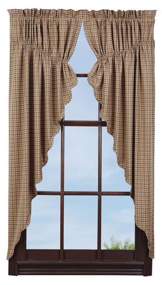 Millsboro Prairie Curtain Scalloped Lined Set of 2