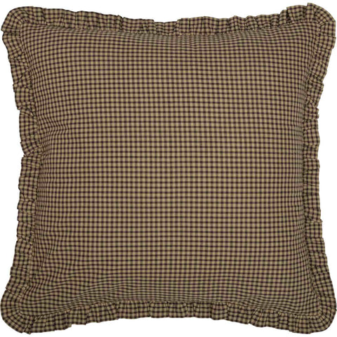 Star Patch Red Collection, Brown Check Euro Sham 26x26""