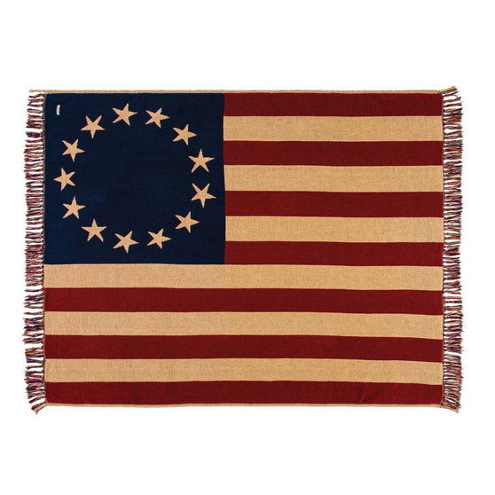 Old Glory Woven Throw Blanket