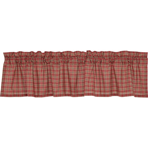 Star Patch Red Plaid Valance 16x72