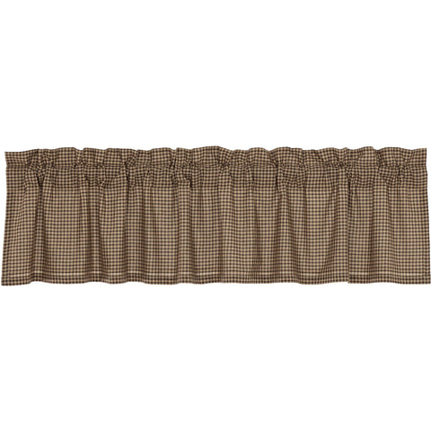 Star Patch Red Collection, Brown Check Valance 16x72