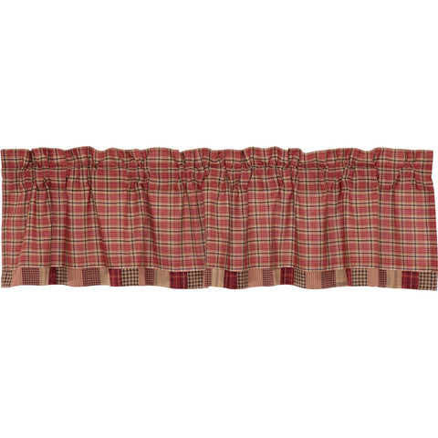 Star Patch Red Valance Block Border 16x72