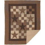 Star Patch Black Quilted Throw