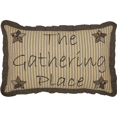 Farmhouse Star Gathering Place Pillow 14 x 22""