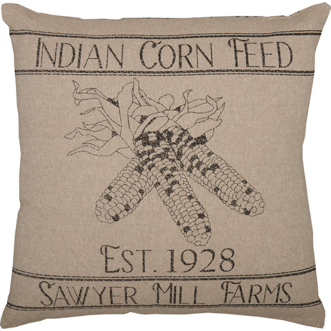 Sawyer Mill Charcoal Corn Feed Pillow