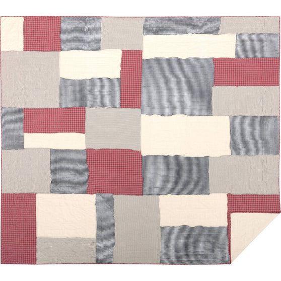 VHC-Brands-April-Olive-Americana-Bedding-Hatteras-Quilt-California-King-Americana-Red-Cotton-White-Denim-Blue