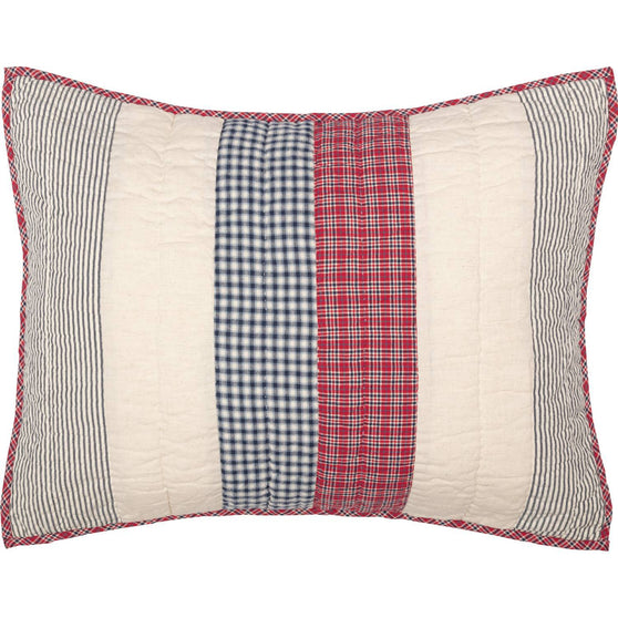 VHC-Brands-April-Olive-Americana-Bedding-Hatteras-Sham-Standard-Quilted-Americana-Red-Cotton-White-Denim-Blue