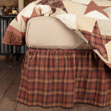 VHC-Brands-Mayflower-Market-Classic-Country-Bedding-Abilene-Star-Bed-Skirt-Queen-Burgundy-Tan-Dark-Brown