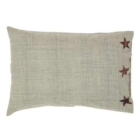 VHC-Brands-Mayflower-Market-Classic-Country-Bedding-Abilene-Star-Pillow-Case-Standard-Tan-Burgundy-Dark-Brown