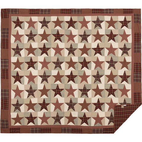 VHC-Brands-Mayflower-Market-Classic-Country-Bedding-Abilene-Star-Quilt-Luxury-King-Burgundy-Tan-Dark-Brown