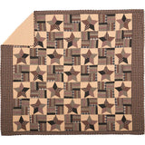 VHC-Brands-Mayflower-Market-Classic-Country-Bedding-Bingham-Star-Quilt-King-Pitch-Black-Tan-Deep-Red