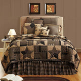 VHC-Brands-Mayflower-Market-Country-Bedding-Bingham-Star-Quilt-California-King-Soft-Black-Khaki-Barn-Red