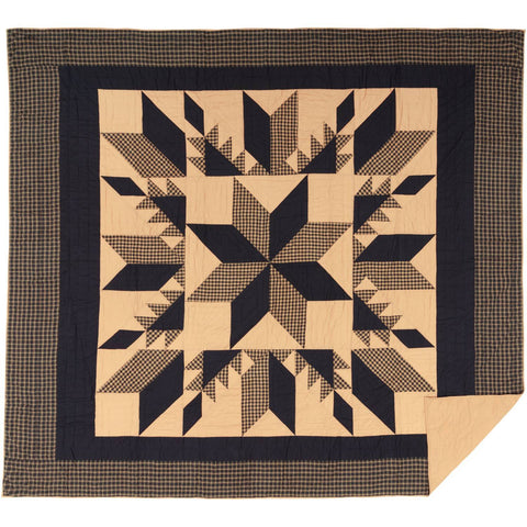 VHC-Brands-Mayflower-Market-Country-Bedding-Dakota-Star-Quilt-California-King-Country-Black-Khaki