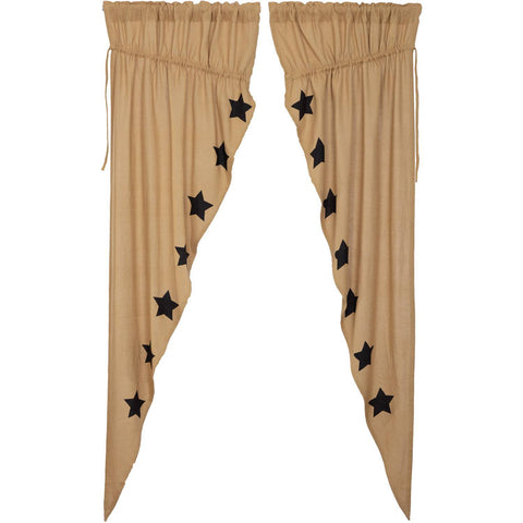 VHC-Brands-Mayflower-Market-Country-Window-Burlap-Natural-Black-Stars-Prairie-Long-Panel-Set-Natural-Country-Black