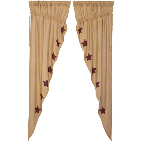 VHC-Brands-Mayflower-Market-Country-Window-Burlap-Natural-Burgundy-Stars-Prairie-Long-Panel-Set-Natural-Burgundy