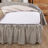 VHC-Brands-April-Olive-Farmhouse-Bedding-Ashmont-Bed-Skirt-Queen-Charcoal-Grey-Warm-Grey-Vintage-White
