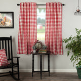 VHC-Brands-April-Olive-Farmhouse-Window-Annie-Buffalo-Check-Short-Panel-Set-63x36-Country-Red-Antique-Creme
