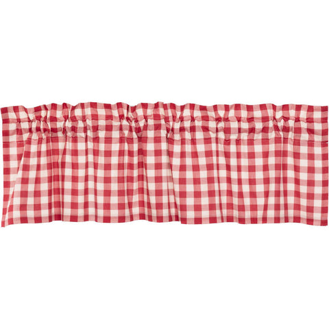 VHC-Brands-April-Olive-Farmhouse-Window-Annie-Buffalo-Check-Valance-16x60-Country-Red-Antique-Creme