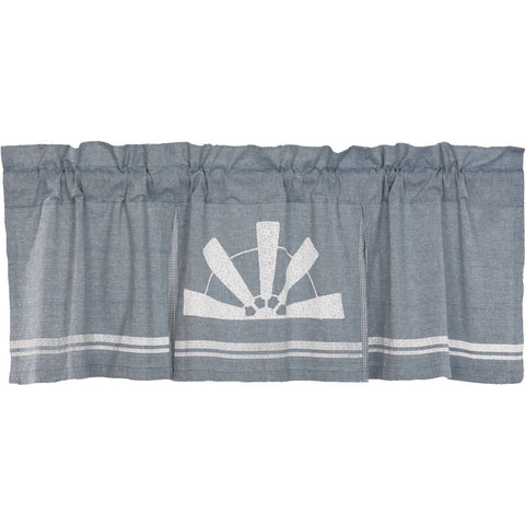 VHC-Brands-April-Olive-Farmhouse-Window-Sawyer-Mill-Blue-Valance-20x60-Denim-Blue-Soft-White