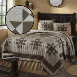 Ohio Star 3 Piece King Quilt Set