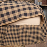 VHC-Brands-Mayflower-Market-Primitive-Bedding-Black-Check-Bed-Skirt-Twin-Raven-Khaki