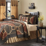 VHC-Brands-Mayflower-Market-Primitive-Bedding-Maisie-Quilt-California-King-Natural-Country-Black-Burgundy