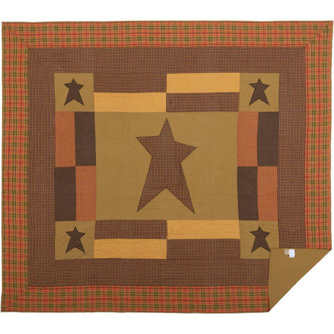 VHC-Brands-Mayflower-Market-Primitive-Bedding-Stratton-Quilt-California-King-Dark-Khaki-Red-Orange-Country-Black