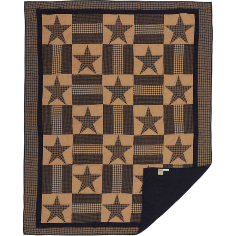 VHC-Brands-Mayflower-Market-Primitive-Bedding-Teton-Star-Quilt-Twin-Dark-Khaki-Navy
