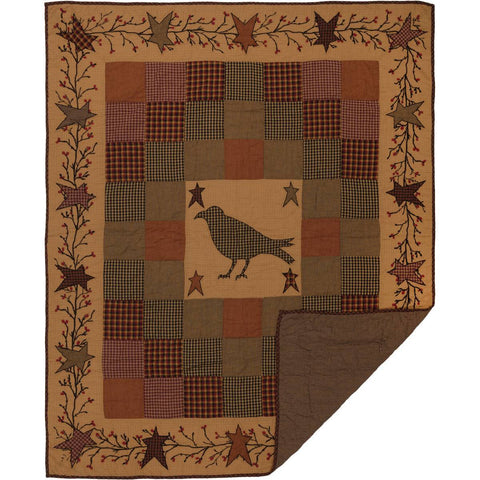 VHC-Brands-Mayflower-Market-Primitive-Pillows-Throws-Heritage-Farms-Throw-60x50-Burgundy-Mustard-Raven-Black