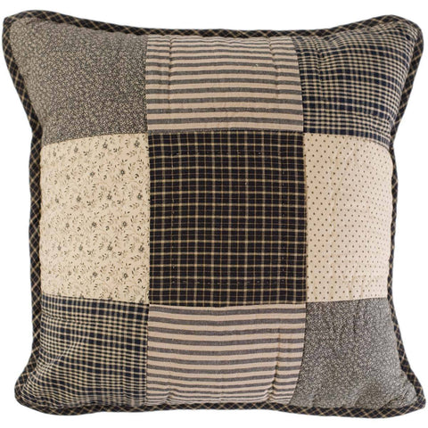 VHC-Brands-Mayflower-Market-Primitive-Pillows-Throws-Kettle-Grove-Pillow-Filled-Quilted-16x16-Country-Black-Khaki-Dark-Creme