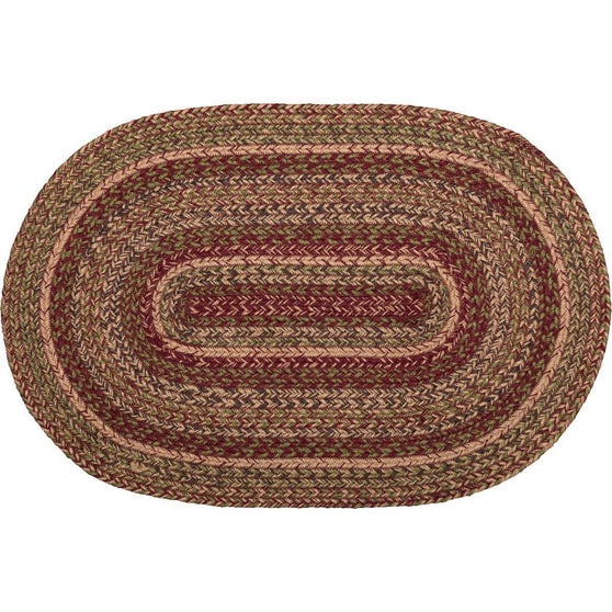 VHC-Brands-Mayflower-Market-Primitive-Rugs-Cider-Mill-Jute-Jute-Rug-20x30-Burgundy-Natural-Olive-Green