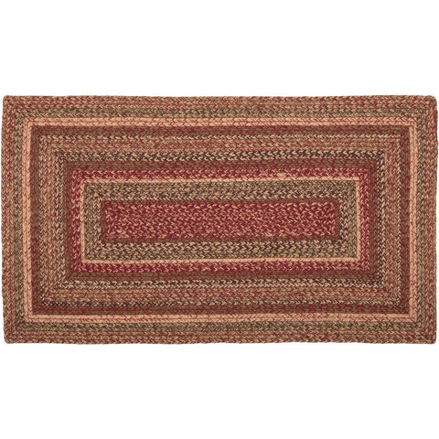 VHC-Brands-Mayflower-Market-Primitive-Rugs-Cider-Mill-Jute-Jute-Rug-27x48-Burgundy-Natural-Olive-Green