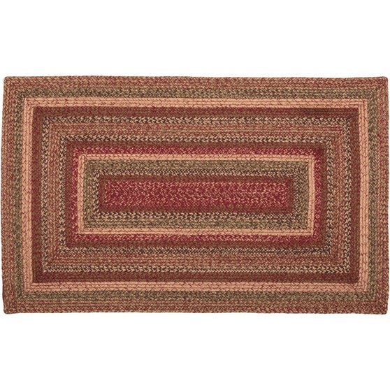 VHC-Brands-Mayflower-Market-Primitive-Rugs-Cider-Mill-Jute-Jute-Rug-36x60-Burgundy-Natural-Olive-Green