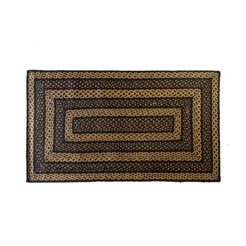 VHC-Brands-Mayflower-Market-Primitive-Rugs-Farmhouse-Jute-Jute-Rug-27x48-Country-Black-Dark-Tan