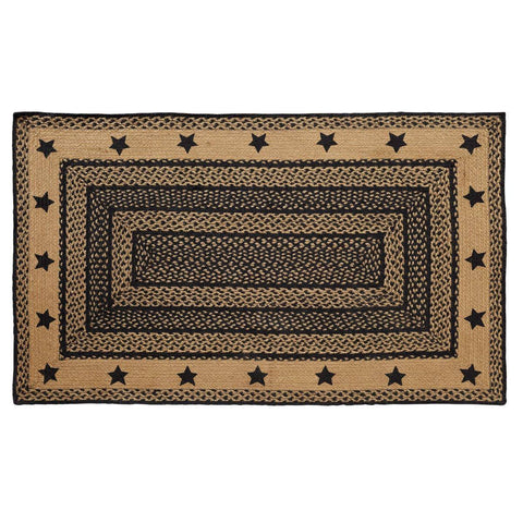 VHC-Brands-Mayflower-Market-Primitive-Rugs-Farmhouse-Jute-Jute-Rug-36x60-Country-Black-Dark-Tan