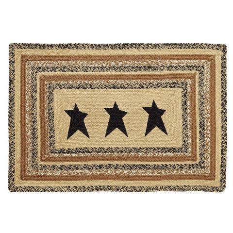 VHC-Brands-Mayflower-Market-Primitive-Rugs-Kettle-Grove-Jute-Rug-24x36-Natural-Country-Black-Caramel